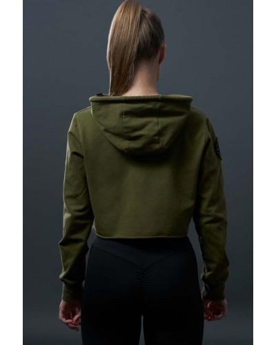 stylowa zielona bluza damska