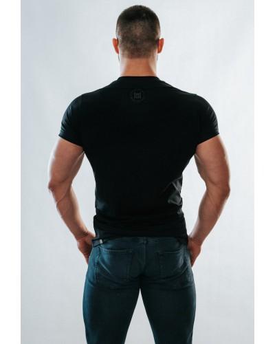 T-shirt czarny military