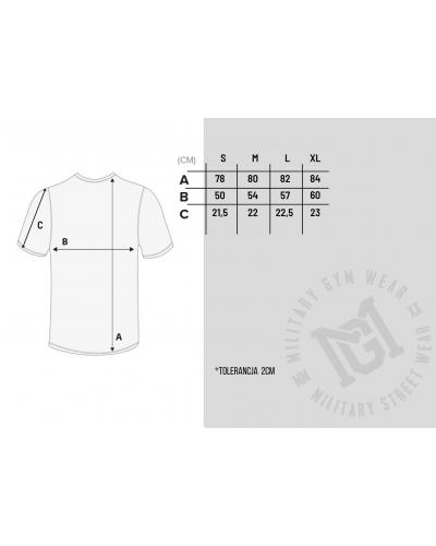 Tabela rozmiarów koszulki z czaszką