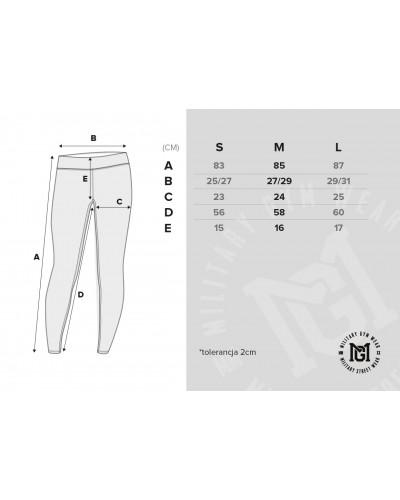 Wymiary legginsów