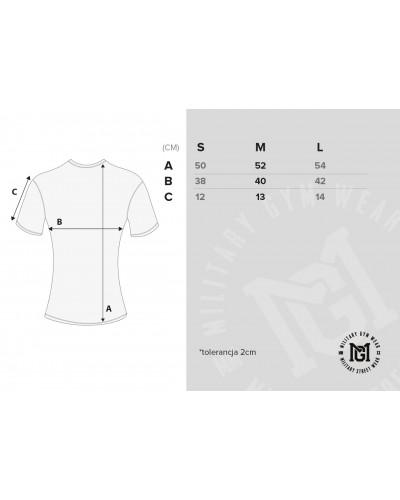 Wymiary T-shirta